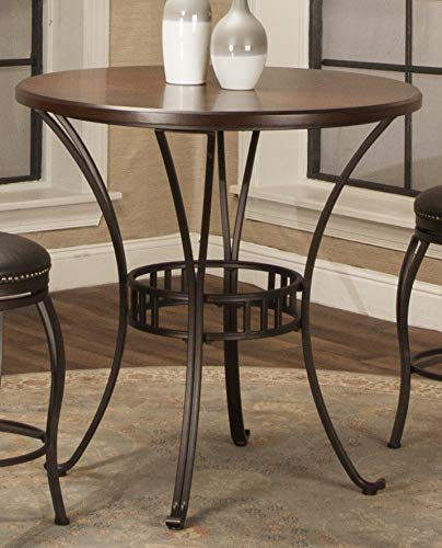 Bronze Pub Table - Sunset Trading CR-J3009-36TB Victoria Dining Pub Table, Bronze and Cherry