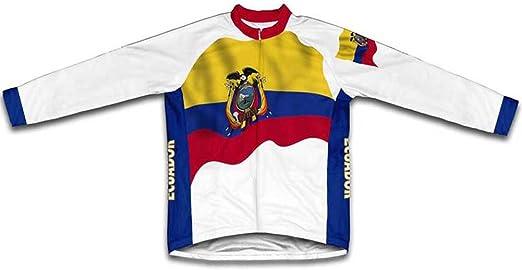 ScudoPro Ecuador Bandera Maillot de Ciclismo Marga Larga para Hombre -: Amazon.es: Deportes y aire libre