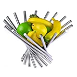 Landtom® Creative Stainless Steel Rotation Fruit Bowl/Fruit Basket/Fruit Stand/Fruit Holder with Free Orange Peeler, Silver by Landtom