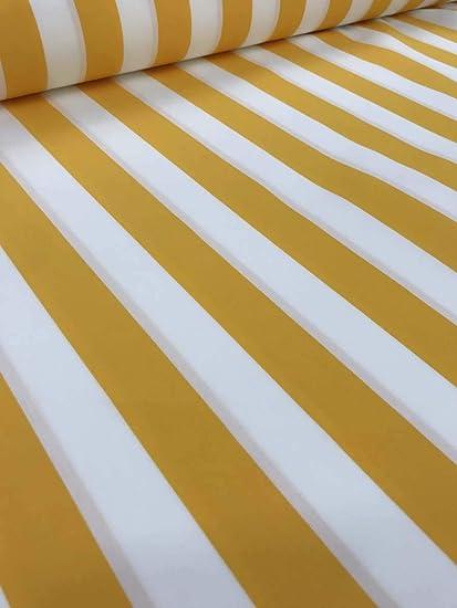 papin tissus tissu d exterieur a rayures grande largeur 320cm escale jaune blanc