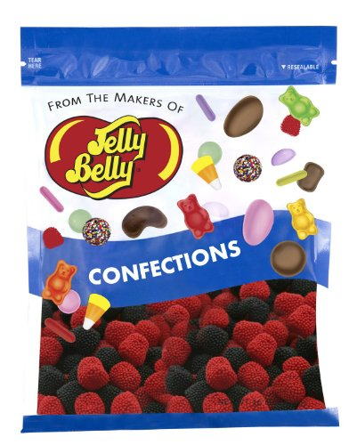Jelly Belly Raspberries and Blackberries Candy - 1 Pound (16 Ounces) Resealable Bag - Genuine, Official, Straight from the Source ()