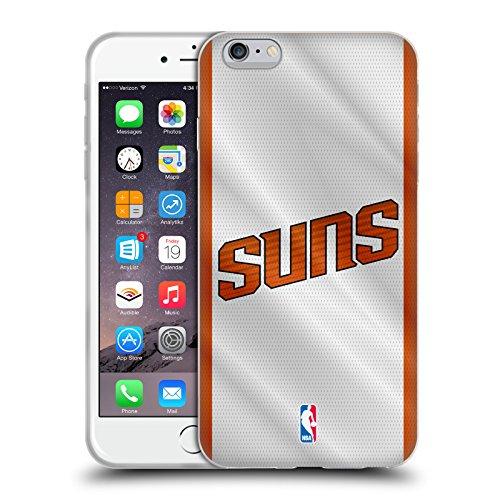 Official NBA Jersey Phoenix Suns Soft Gel Case for Apple iPhone 6 Plus / 6s Plus (Suns Phoenix Case Cellular Phone)
