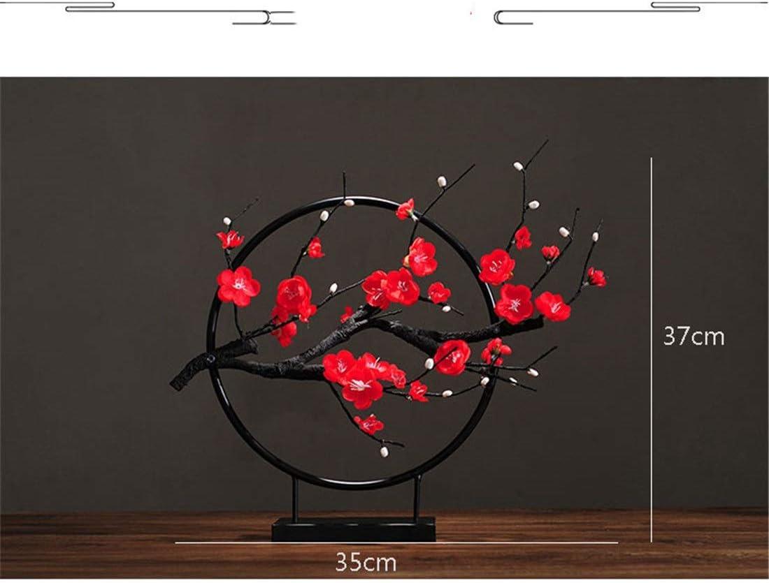 Quintion Child Dekoration Pflaume Blume K/ünstliche Blume Schmiedeeisen Ornamente Neue Chinesische Modell Wohnzimmer Hotel Club TV Porch Home Dekorationen