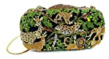 "''Jungle Fever'' Wild Animal Clutch/Evening Purse, Inlaid Jewel Studded, 10"" chain, Hard Case."