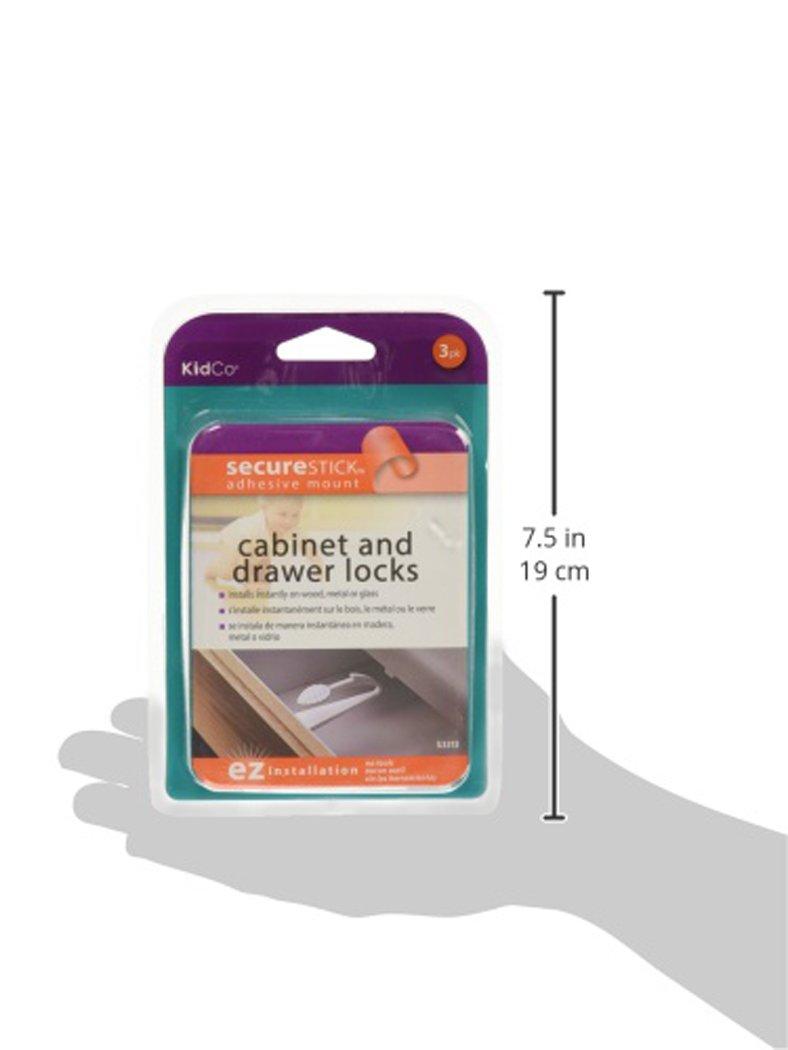 Amazon.com : KidCo Adhesive Mount Cabinet & Drawer Lock 3 pack ...