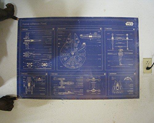 Star Wars - Rebel Alliance Fleet Blueprint Poster Art Print