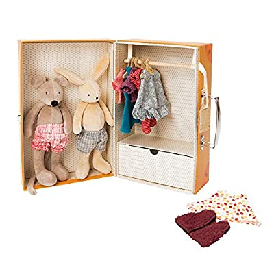 Moulin Roty La Grande Famille The Little Wardrobe Suitcase: Toys & Games