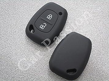 Carcasa para llave de coche de silicona protectora negro ...