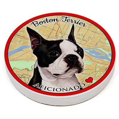 (Boston Terrier) Pet Gifts Coaster Buddies, Dogs & Cats, Car & Truck Cup holder, Absorbant Ceramic, 2.65 Inch Size