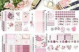 True Romance, Planner Calendar Sticker Kit 6 sheets on matte. Erin Condren and Happy Planner sizes. Kiss cut, just peel and stick.