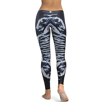 Yasminey Leggings Mujeres Geometría Bar 3D Impreso Chic Ropa Digital Leggins Alta Camiseta Elástica Pantalones Delgados Pantalones: Ropa y accesorios