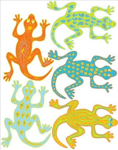 Sticker autocollant gecko