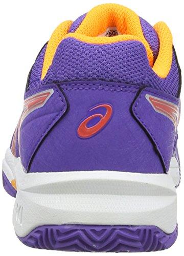 asics Gel-Resolution 6 Clay GS - Zapatillas para deportes de exterior de sintético para niño Púrpura (Lavender/Hot Coral/Nectarine 3306)