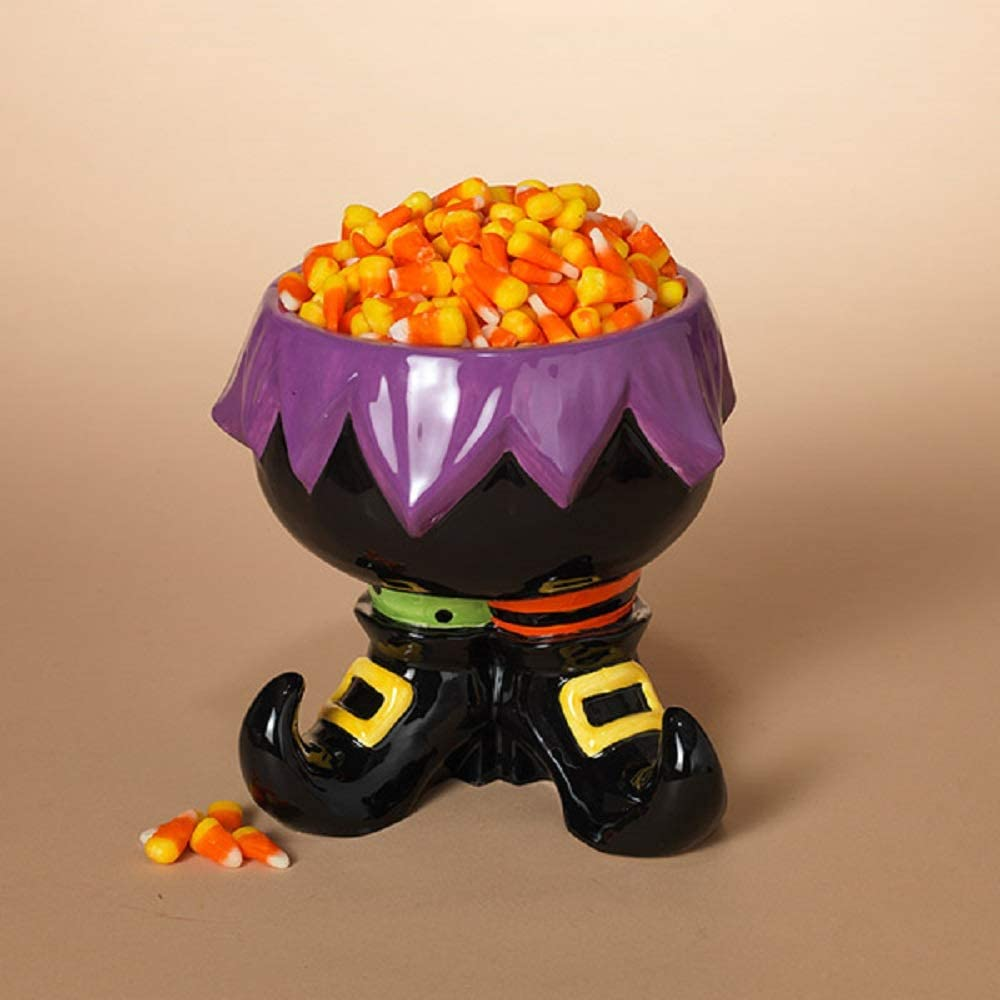 Gerson 7.8-Inch Long Dolomite Witch Candy Container