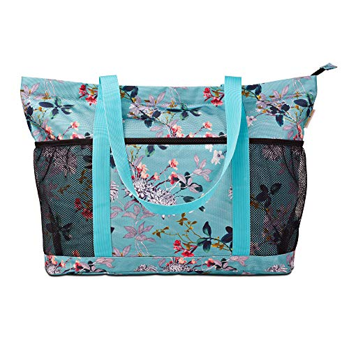 Large Foldable Beach Bag With Zipper - XL