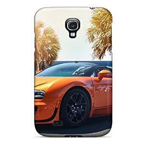 Tpu ColorfulCase Shockproof Scratcheproof Orange Bugatti Veyron By The Sea Hard Case Cover For Galaxy S4