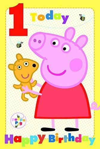 Peppa Pig edad 1 tarjeta de cumpleaños: Amazon.es: Oficina y ...