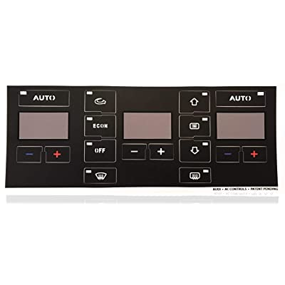 AC Button Repair Decal Kit for Audi A4 A6 B6 B7 - Easily Fix Your Ugly Faded A/C Controls for Your Audi Vehicle: Automotive