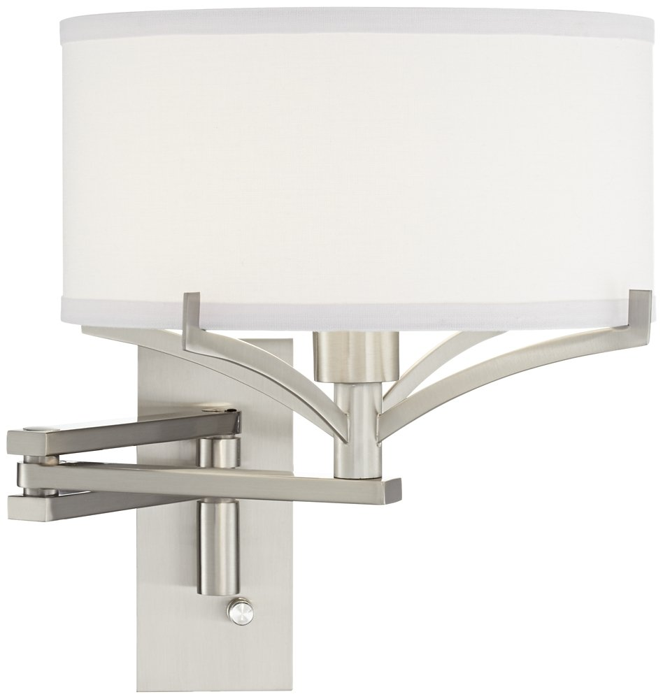 Tremont Brushed Steel Metal Swing Arm Wall Lamp