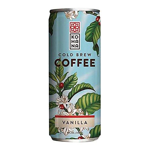 Kohana Tahitian Vanilla Cold Brew Coffee Beverage, 8 Fluid Ounce -- 12 per case. (Tahitian Vanilla Coffee)