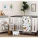 NoJo-Dreamer-Little-Woodland-Friends-8-Piece-Nursery-Crib-Bedding-Set-GreyTanAquaWhite