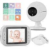 "CityMama 3.5"" Wireless Video Baby Monitor with LCD Display Digital Camera Infrared Night Vision Two Way Talk Back Temperature Sensor Lullabies Including Corner Shelf"