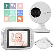 3.5  Wireless Video Baby Monitor with LCD Display Digital Camera Infrared Night Vision Two Way Talk Back Temperature Sensor Lullabies Including Corner Shelf
