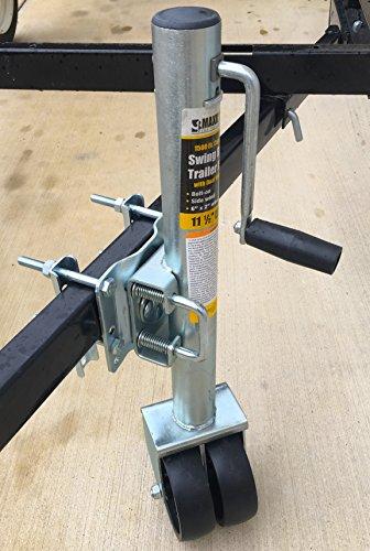 Maxxhaul 70149 26 1 2 to 38 lift swing back trailer jack for Wrap master model 1500