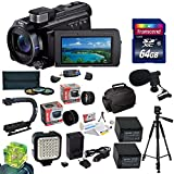 Sony 96GB HDR-PJ790 HD Handycam Camcorder/Projector with Must Have Accessory Kit Includes 32GB High-Speed Error-Free SD Memory Card + SD Card Reader + 52MM 3 Piece Pro Filter Kit (UV, CPL, FLD) + Sony FV70 Extended Life Replacement Battery + Rapid AC/DC B