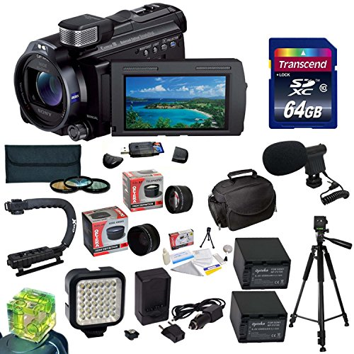 Sony 96GB HDR-PJ790 HD Handycam Camcorder/Projector with Must Have Accessory Kit Includes 32GB High-Speed Error-Free SD Memory Card + SD Card Reader + 52MM 3 Piece Pro Filter Kit (UV, CPL, FLD) + Sony FV70 Extended Life Replacement Battery + Rapid AC/DC B by Opteka