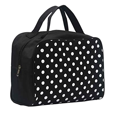 best Lavany Portable Women Multifunction Travel Cosmetic Bag Makeup Toiletry Case Pouch (Black)
