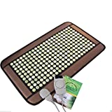HealthyLine Far Infrared Heating Pad|Natural Jade Healing Pad 32''x 20'' | Negative Ions Heating Pad (Medium & Firm)| Relieve Muscles, Joints, Nerves & Bones Pain |US FDA