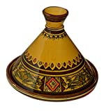 Moroccan Handmade Serving Tagine Exquisite Ceramic With Vivid colors Original 10 Inches in Diameter