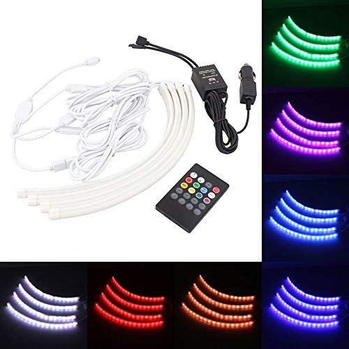 Car Bulbs Car Acoustic LED Atmosphere Lamp/Chassis/Automobile Hub Lights RGB Colorful Musice Lamp, 12V