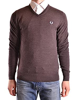 Men's MCBI128175O Brown Wool Sweater