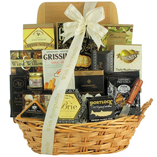 GreatArrivals Gift Baskets In Kindness & Sympathy: Sympathy Cheese & Snack Gift Basket, 4 Pound by GreatArrivals Gift Baskets