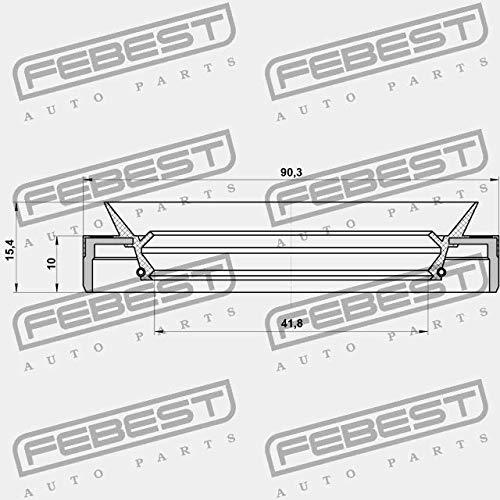 Febest 95MEY-43901015C PRESSE-/ÉTOUPE DARBRE DE TRANSMISSION 43X90X10X15.4