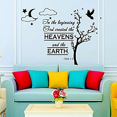 Amazoncom Wall Decals Quotes Bible Verse Psalm Genesis In - Wall decals quotes bible