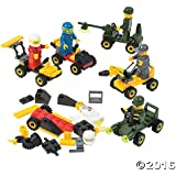 6 Mini BUILDING Block Vehicle Sets/RACE Car/JEEP/Construction, etc/Party FAVOR/STOCKING STUFFERS/Motor Skills