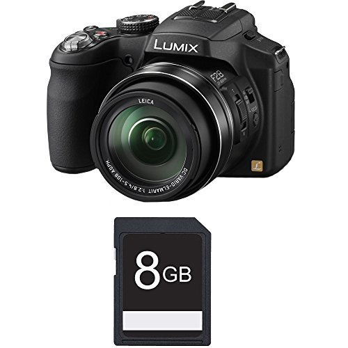 Panasonic Lumix DMC-FZ200 12.1 MP Digital Camera with CMOS Sensor and 24x Optical Zoom - Black - DMC-FZ200K +4GB SDHC Card