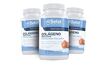 Colageno Hidrolizado by Betel Natural (Hydrolyzed Collagen) - 90 Capsules