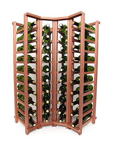 Wine Racks Wineracks Premium Cellar Series 40 Bottle Curved Corner Base, Mahogany -
