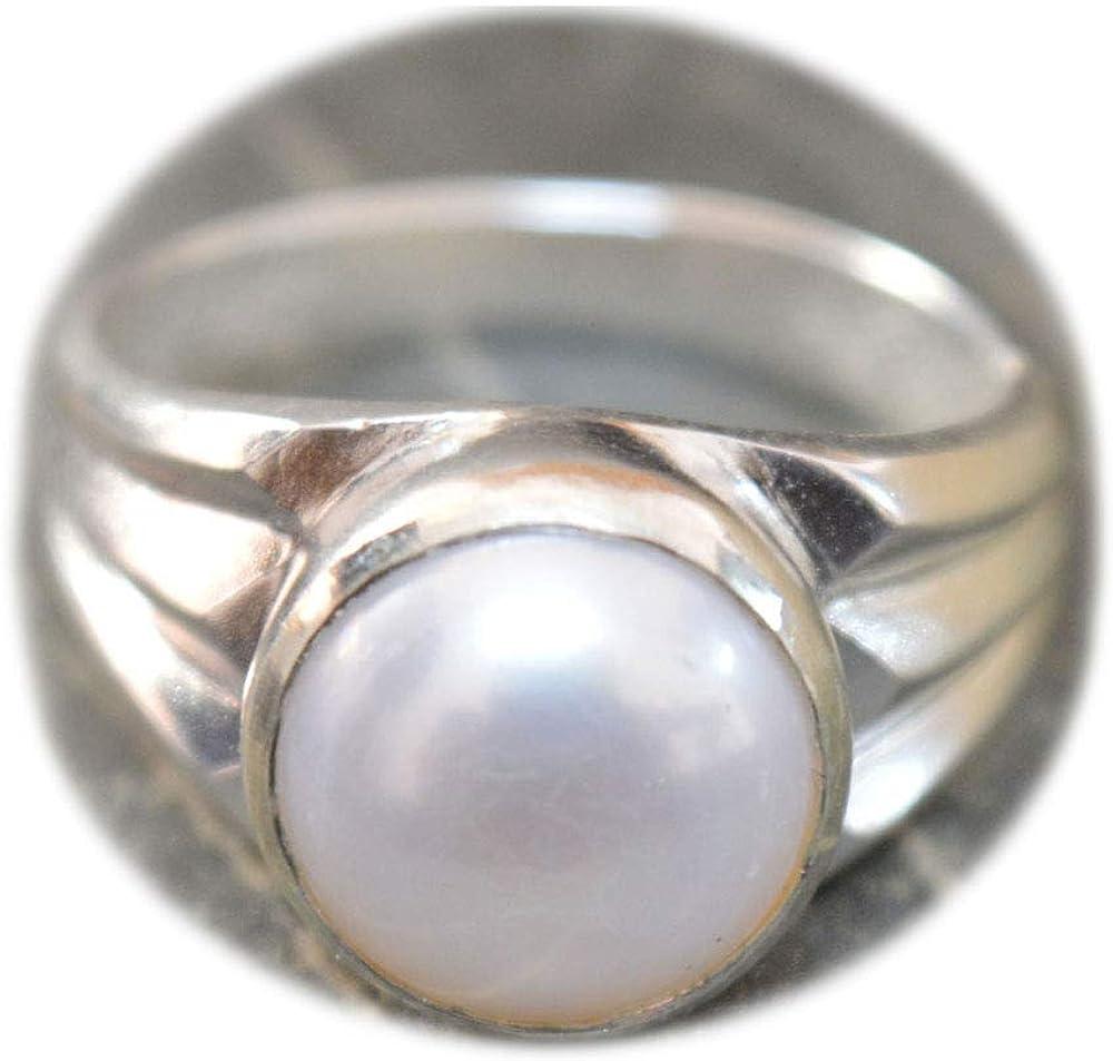 faite /à la main bijou pour homme Taille 47 /à 69 couleur au choix 5 carats Bague en argent sterling avec pierre pr/écieuse naturelle