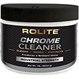Rolite Chrome Cleaner (1lb) for All Chrome Plated Surfaces. Motorcycles, Automobiles, Boats, RVs, Bumpers and Much More