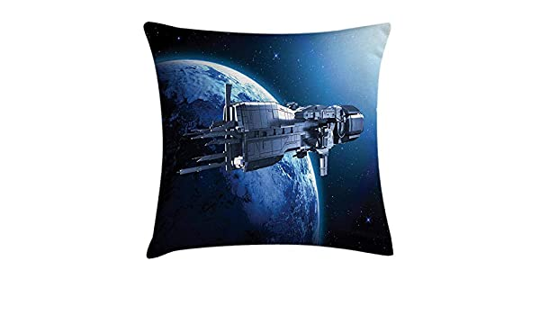 AHENANY Outer Space Throw Pillow Cushion Cover, Spaceship ...