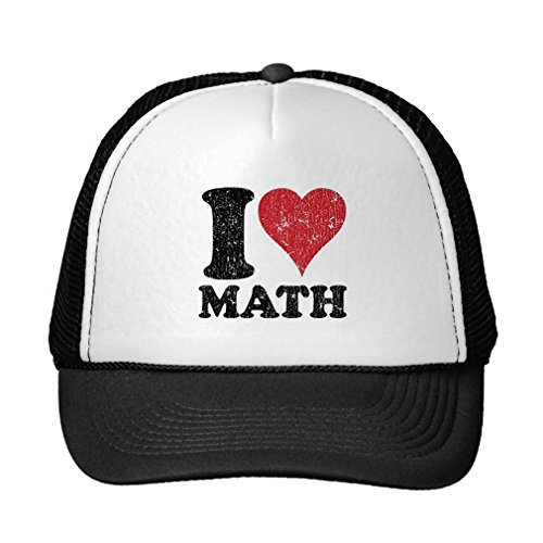 Funny Vintage I Love Math Trucker Hat