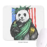 Statue of USA Flag 10.5'x12.5' Mouse Pad Computer Rubber Base Rectangle Officework Funny Mouse Pad