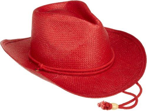 San Diego Hat Little Girls'  Cowboy Hat,Red,4-8 years (Red Straw Cowboy Hat)