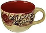 Silver Buffalo HP2724 Harry Potter The Prisoner of Azkaban Mischief Managed Ceramic Soup Mug, 24-Ounces