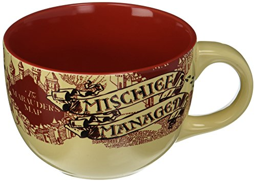 Silver Buffalo HP2724 Harry Potter The Prisoner of Azkaban Mischief Managed Ceramic Soup Mug, - Cappuccino Mug New